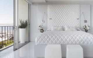 Дизайн спальни белая мебель