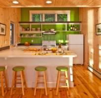 Интерьер кухни вагонка