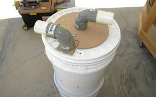Самодельный циклонный фильтр для пылесоса