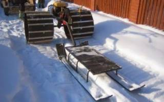 Снегоход из мотокультиватора своими руками видео