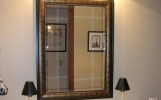 Зеркало в багете в интерьере