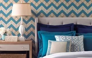 Дизайн спальни с обоями фото