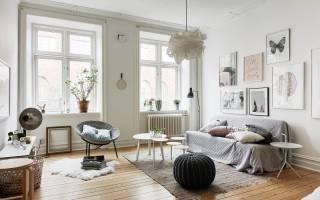 Интерьер гостиной в скандинавском стиле фото