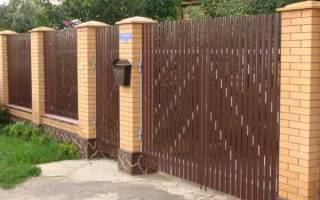 Забор из евроштакетника размеры