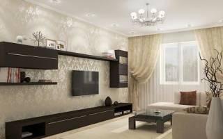 Интерьер гостиной в коричнево бежевых тонах