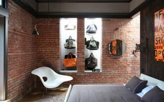 Дизайн спален с кирпичами