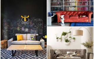 Дизайн стены с диваном