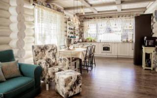 Интерьер кухни гостиной в стиле прованс