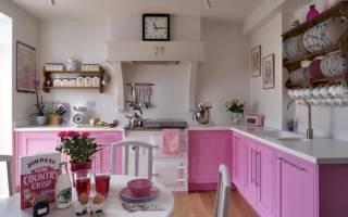 Интерьер кухни в стиле прованс в квартире