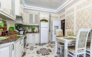 Интерьер кухонной стены