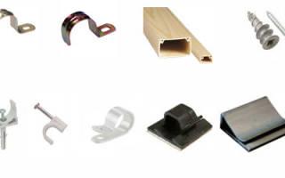 Чем крепить провода к стене