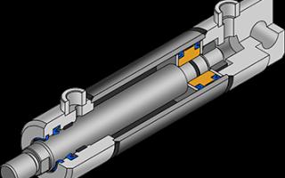 Гидроцилиндр устройство в разрезе