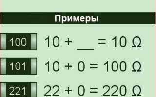 Резистор 105 сколько ом
