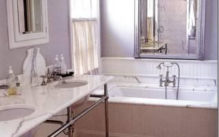 Дизайн сиреневой ванной