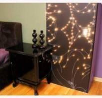 Декор стен с подсветкой