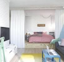 Дизайн спальни однокомнатной квартиры