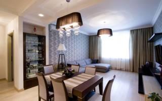 Интерьер гостиной столовой в доме