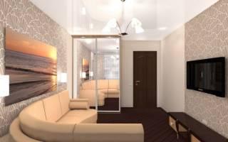 Интерьер гостиной в квартире 15 кв м