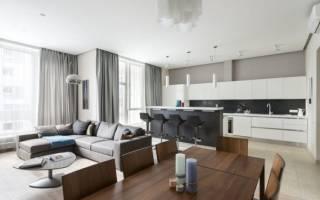 Интерьер кухни гостиной минимализм