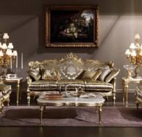 Интерьер с классической мебелью