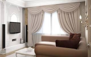 Интерьер гостиной со шторами фото