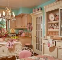 Интерьер кухни в стиле шебби шик фото