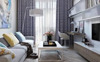 Интерьер гостиной в хрущевке в современном стиле