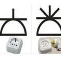 Как обозначается розетка на электросхеме