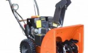 Снегоуборщик Prorab GST 110 EL: обзор, отзывы