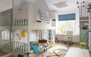 Дизайн спальни для двух мальчиков